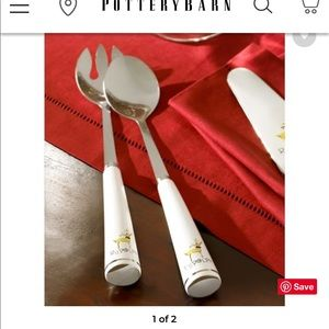 Pottery Barn Rudolph Serving Set